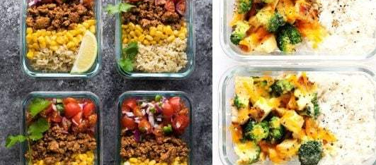 turkey-taco-lunch-bowls_Cheesy-Broccoli-Cheddar-Chicken-and-Rice-Bowls-Casserole-Meal-Prep-600x400